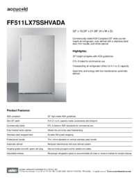 Brochure FF511LX7SSHVADA