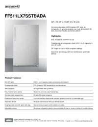 Brochure FF511LX7SSTBADA