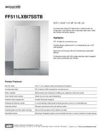 Brochure FF511LXBI7SSTB