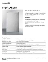 Brochure FF511LXSSHH