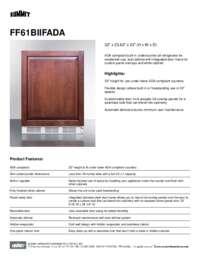 Brochure FF61BIIFADA