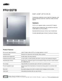 Brochure FF61SSTB