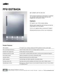 Brochure FF61SSTBADA