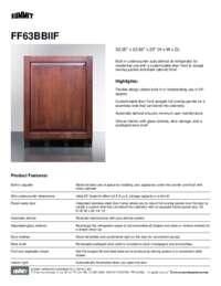 Brochure FF63BBIIF