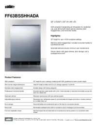 Brochure FF63BSSHHADA