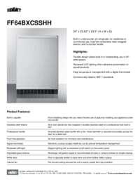 Brochure FF64BXCSSHH