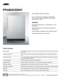 Brochure FF64BXCSSHV