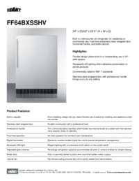 Brochure FF64BXSSHV