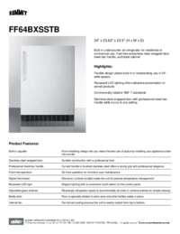 Brochure FF64BXSSTB