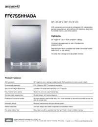 Brochure FF67SSHHADA