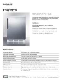 Brochure FF67SSTB