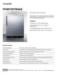 Brochure FF6B7SSTBADA