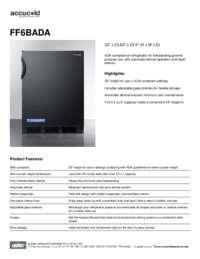 Brochure FF6BADA