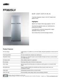Brochure FF882SLV