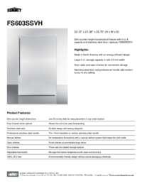 Brochure FS603SSVH