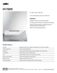 Brochure H1720W