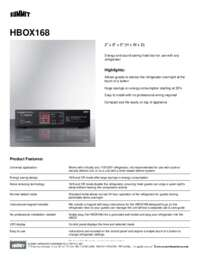 Brochure HBOX168
