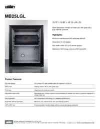 Brochure MB25LGL