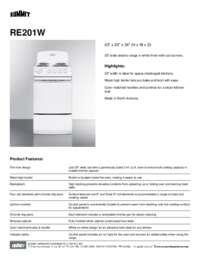 Brochure RE201W