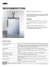 Brochure SBC635MBIDPLTWIN