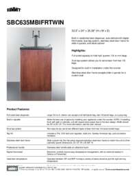 Brochure SBC635MBIFRTWIN