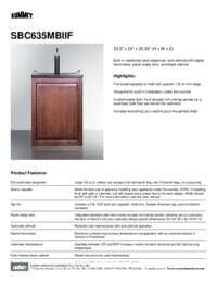 Brochure SBC635MBIIF
