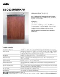 Brochure SBC635MBINKFR