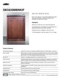 Brochure SBC635MBINKIF
