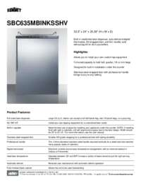 Brochure SBC635MBINKSSHV