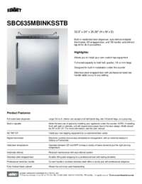 Brochure SBC635MBINKSSTB