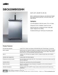 Brochure SBC635MBISSHH