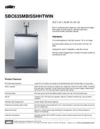 Brochure SBC635MBISSHHTWIN