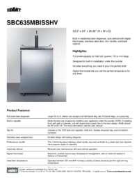 Brochure SBC635MBISSHV