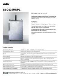 Brochure SBC635MDPL