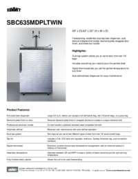 Brochure SBC635MDPLTWIN