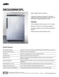 Brochure SBC635MNKDPL