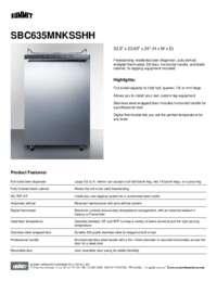 Brochure SBC635MNKSSHH
