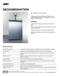Brochure SBC635MSSHHTWIN