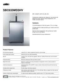 Brochure SBC635MSSHV