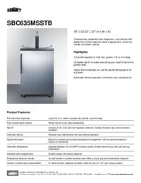 Brochure SBC635MSSTB