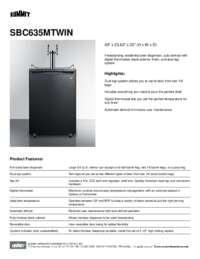 Brochure SBC635MTWIN