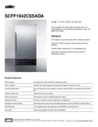 Brochure SCFF1842CSSADA