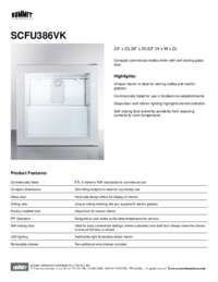 Brochure SCFU386VK