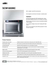Brochure SCM1800M2