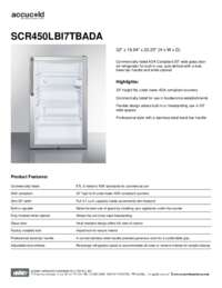 Brochure SCR450LBI7TBADA