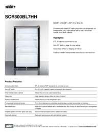 Brochure SCR500BL7HH