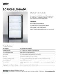 Brochure SCR500BL7HHADA
