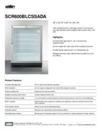 Brochure SCR600BLCSSADA