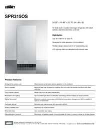 Brochure SPR315OS