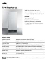 Brochure SPR315OSCSS